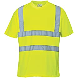 Portwest S478 - Hi-Vis Camiseta, color Amarillo, talla XL