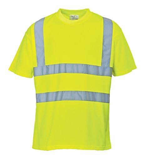 Portwest s478yerxl maglietta manica corta alta visibilità, giallo, xl