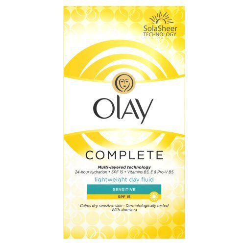 Olay SPF15 Complete Lightweight 3-in-1 Moisturiser Day Fluid Sensitive, 100 ml by Olay - Day Cream Olay