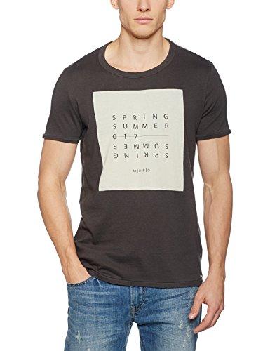 Marc O'Polo Denim Herren T-Shirt 761232451326 Grau (Vulcan Grey Melange 961)