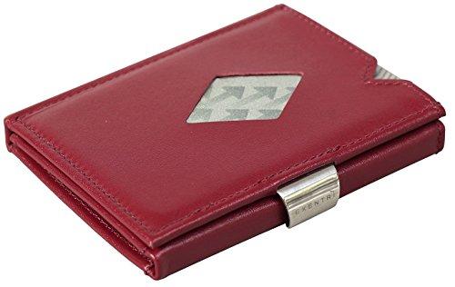 Esta elegante y original billetera Exentri® hecha de auténtico cuero rojo de alta calidad es probablemente la billetera más compacta del mercado.Tiene un innovador diseño que pone sus las tarjetas usadas con más frecuencia a su alcance sin tener qu...