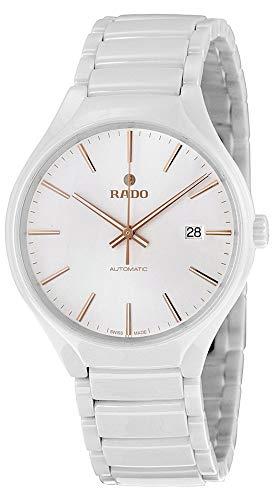 Rado True White Hi-Tech Ceramic Automatic White Dial Date Unisex Watch R27058112