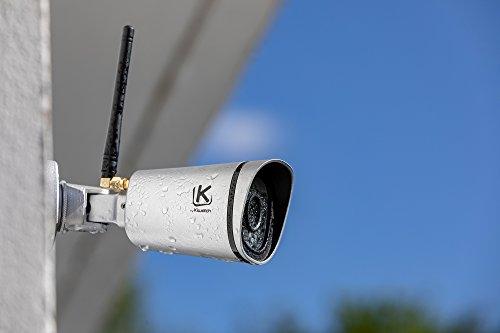 Caméra de Surveillance extérieure Kiwatch, full HD, Wifi, Grand Angle 120°, Vision Infrarouge, Détecteur de Mouvement, Enregistreur sur Cloud Sécurisé