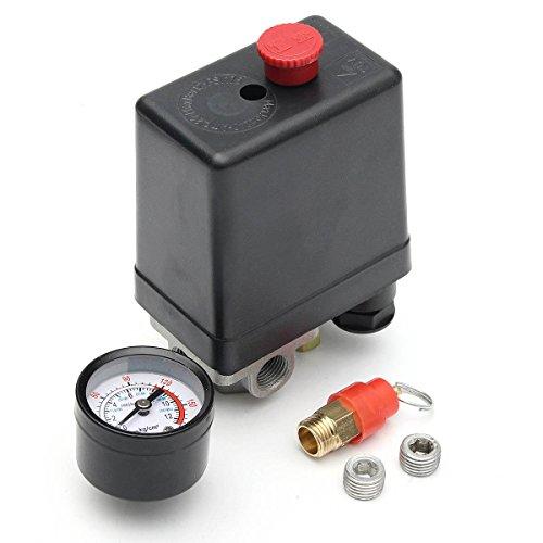 Werse 220 V 1/4 Zoll Bsp 4 Port Einphasig Kompressor Druckschalter Mit Sicherheitsventil Manometer