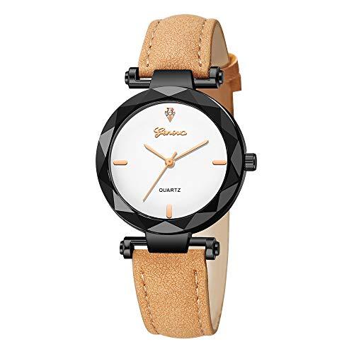 SHE.White Damen Uhren Slim Minimalistisch mit Edelstahl Mesh Armband Mode Kleid Elegant Beiläufig Quarzuhr für Damen