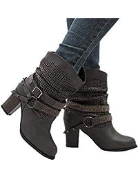 a5d79a57111 Amazon.es  Zapatos Mujer Fiesta Tacon Medio  Zapatos y complementos
