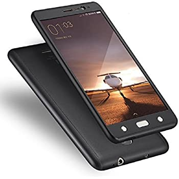 Debase ACR61 360 Degree Full Body Protection Front & Back Case Cover for Xiaomi Redmi Note 3 With Tempered Glass,(Black)