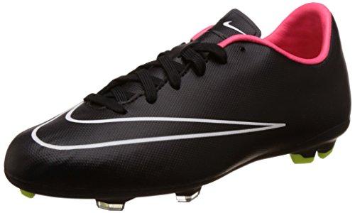 Nike Vitória Mercurial V Fg Crianças Unissex Futebol Preto / Branco (preto Preto E Branco De Choque Hiper)