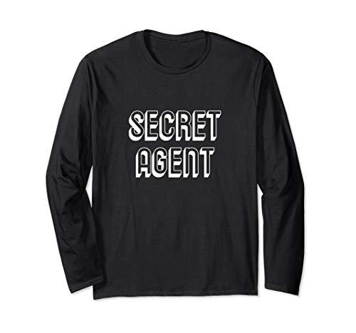 Secret Agent Lazy Halloween Kostüm lustig Langarmshirt (Agent Secret Kostüm)