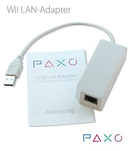 WII LAN Adapter (Nintendo)/USB 2.0 - Netzwerk Adapter für Nintendo Wii und Wii U Konsole