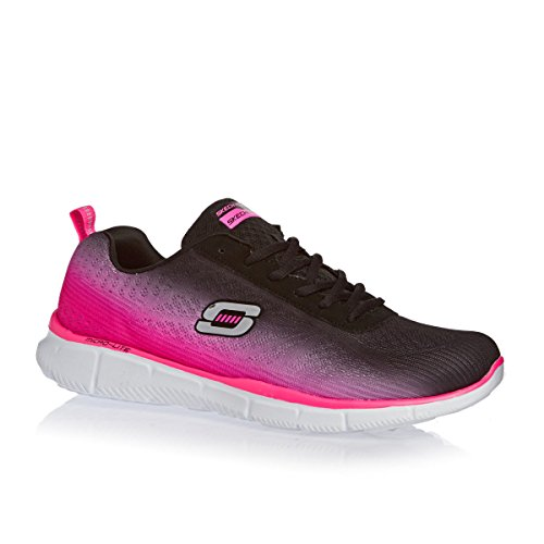 Skechers 11892 femmes Baskets Noir / Hot Rose