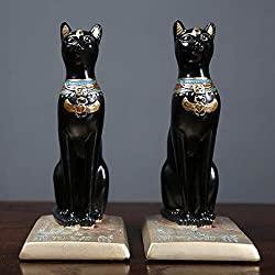 Gatos egipcios para Decoración de mesa de centro. 100% artesano