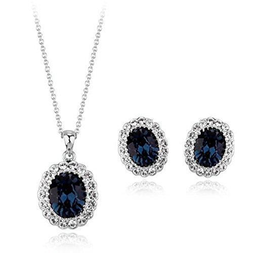 18ct oro bianco Fine Jewellery con cristalli Swarovski Sapphire