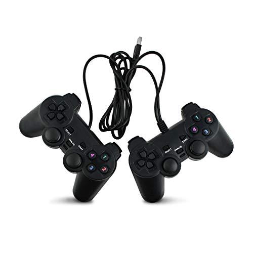 SQDeal USB-Gamepad mit Kabel, für PC/Laptop/Windows, Schwarz - Motor Treiber-fenster