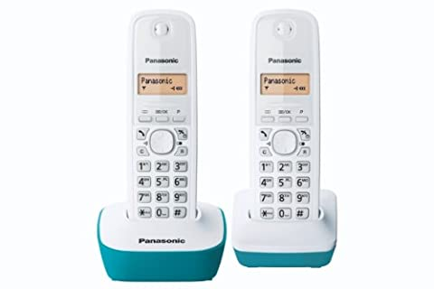 Panasonic KX-TG1612FRC Téléphone Duo sans fil DECT sans répondeur