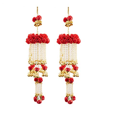 Chinar Jewels Bridal Kalire Kalira kalere Kaleera Kalera in Red Flowers and Gold Plated for Wedding in Latest Design and Best Quality.