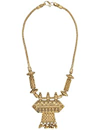 Shining Jewel 18K Antique Gold Necklace Set For Women (SJ_2319)