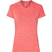 Pro Touch Women's T-Shirt Rylinda II Shortsleeve, Melange/Red Light, 44