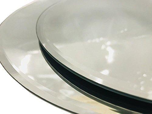inerra Redondo Espejo de Cristal Placa Para Mesa Boda centros de mesa, velas y de MESA arreglos - Plateado, 30cm