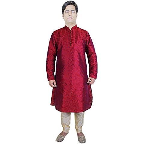 Moda Outfits Kurta Pajama Punjabi indiani etnica Kurta Red