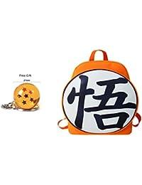 Tresbon Products Dragon Ball Z y Zelda Anime Mochilas con Llavero de Estrella de Dragon Ball