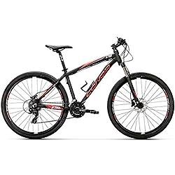 """Conor 6700 29"""" Bicicleta Ciclismo Unisex Adulto, Negro/Rojo, MD"""