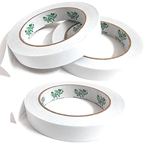 Double-Sided Adhesive Sticker Tape, QingLong(Green Dragon) Premiun Permanent Double-Sided Adhesive Sticker Tape For Photos/ Documents/ (Double Sided Foil Origami)