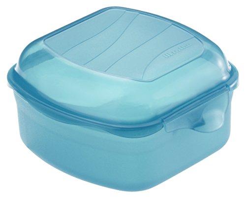 Rotho Funbox Vesperdose 0.45 l, Kunststoff (BPA-frei), blau, 0.45 Liter (11,5 x 11 x 6,5 cm)