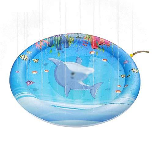 170cm besprühen und Spritzen Wasser-Spielmatte, aufblasbare Sprinklerauflage, Sommer-Spray-Spielwaren perfekt für Kinder und Familienaktivitäten im Freien