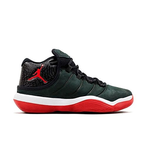 Nike Kinder Jordan Super.Fly 6 (GS) Schwarz Leder/Synthetik Basketballschuhe 38 (Der Jordan 11 Schuhe Für Jungen)