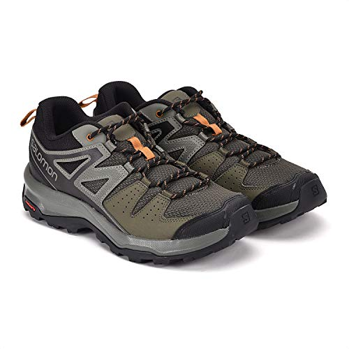 Salomon X Radiant, Zapatillas de Senderismo para Hombre, Verde Grape Leaf/Castor Gray/Cathay Spice...
