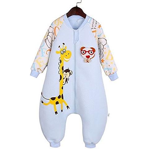 Happy Cherry Saco de Dormir de Mangas Largas Pijama de Dibujos Animados Bolsa de Dormir Mono Sleeping Bag para Bebés Niños
