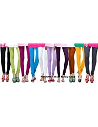 ROOLIUMS ® (Brand Factory Outlet) Women's Leggings Combo (Pack Of 10-108) 160 GSM, 4 Way - FREE SIZE