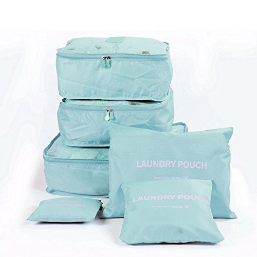 6Pcs/1Set Travel Luggage Storage Bag by House of Quirk (38 cm x 30 cm x 3.99 cm, Set of 6)