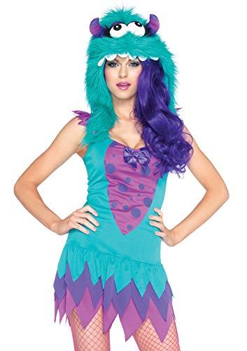 Flauschige Monster Kostüm - Leg Avenue 83922 - 2TL. Fuzzy Frankie Kostüm, Größe M/L, teal, Damen Karneval Fasching
