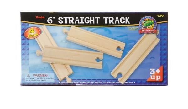 Wooden Tracks Maxim Enterprise 6 Straight Track 4-Piece Toys 50904