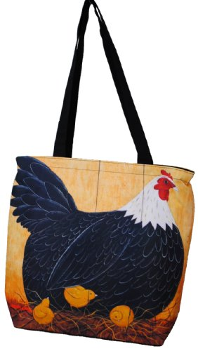 Immerschön Tasche Shopper - Marilyn Monroe - Sonnenblumen - Huhn mit Küken - Umhängetasche Schultertasche City-Bag Huhn mit Küken