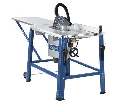 Scheppach 3901302920 Tischkreissäge HS120o, ideal zum Sägen von Hart-und Weichholz, präzise Gehrungs, Längs-und Winkelschnitte Dank großzügiger Ausstattung, Sägeblattschutz, 2800 W, 400 V