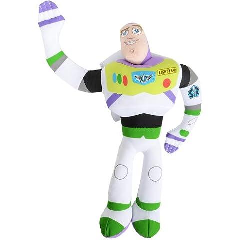 Buzz Lightyear - Muñeco de peluche (Pelicula Disney TV Dibujos Animados), 37 cm, multicolor