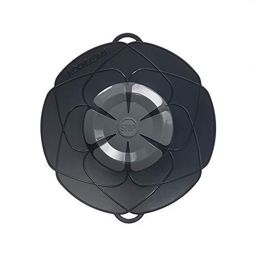 Kochblume vom Erfinder Armin Harecker M 25,5 cm anthrazit | Überkochschutz für Topfgrößen von Ø 14 bis 20 cm | Set mit Microfasertuch!