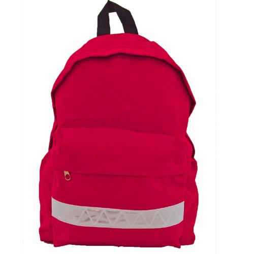euro-childrens-rucksack-backpack-bag-in-9-colours-with-safety-strip-red