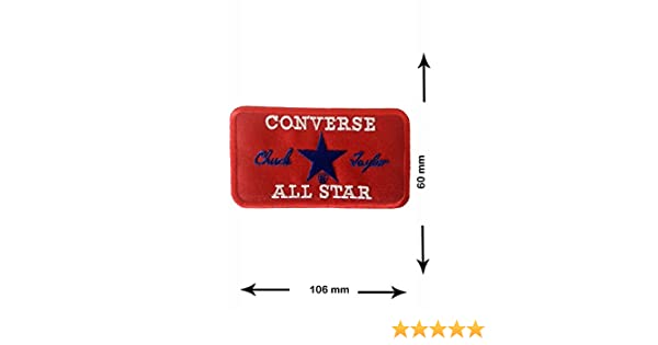 Patch Converse All Star 10.6 Cm Patch Embroidery Emblem Iron On Patches