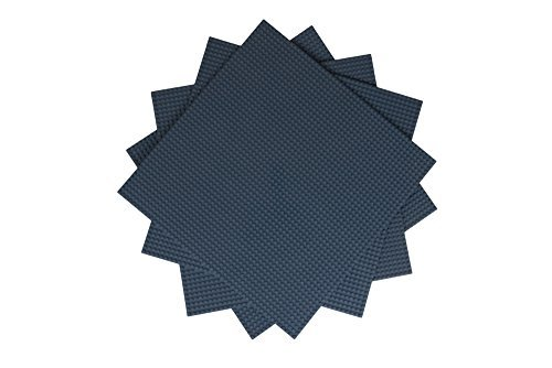 """Strictly Briks - Premium-Bauplatten - stapelbar - kompatibel mit allen führenden Marken - dunkelgrau - 15,75"""" x 15,75"""" (40 x 40 cm) - 4 Stück"""