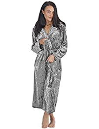 9b935ae4bb CityComfort Luxurious Hooded Dressing Gown for Women Crushed Velvet Long  Housecoat Sleepwear Gifts for Ladies Elegant