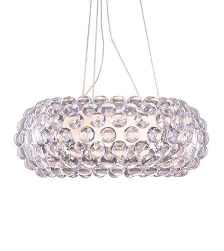 LED Pendelleuchte Acryl Knusprig Klar Transparent Farbe Wohnzimmer Schrank RestaurantBad Sonstiges (Grün Weiß E: 35 cm)