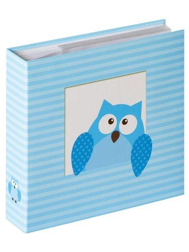 Walther Design ME-118-L álbum bebé para enchufar Owlet Boy para 200 fotos 10 x 15 cm, azul