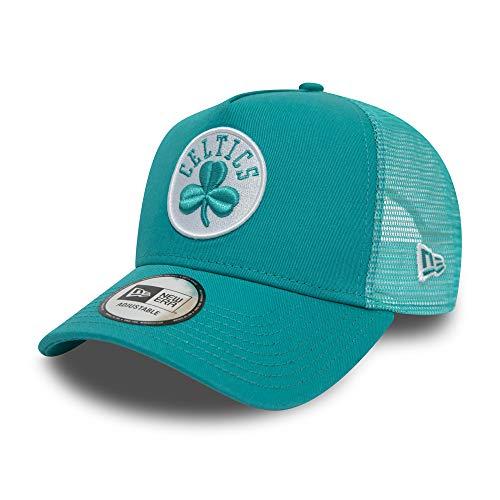 6e3b601ac6 New Era Boston Celtics A Frame Adjustable Trucker Cap NBA Essential  Turquoise - One-Size