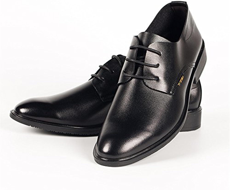 männer an leder schuhe  schwarze männer an lederschuhe  komfortable und freizeit lederschuhe  mode schwarz 41