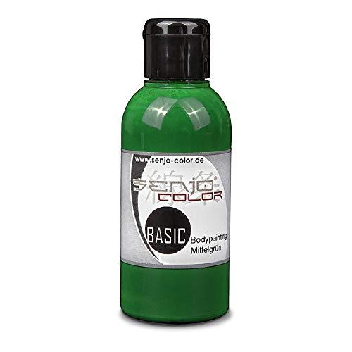 Senjo Color Farbe für Airbrush für Body Paint, 75ml grün
