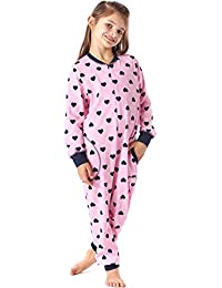 Merry Style Pijama Entero 1 Pieza Vestido de Casa 100% Algodón Niña ...